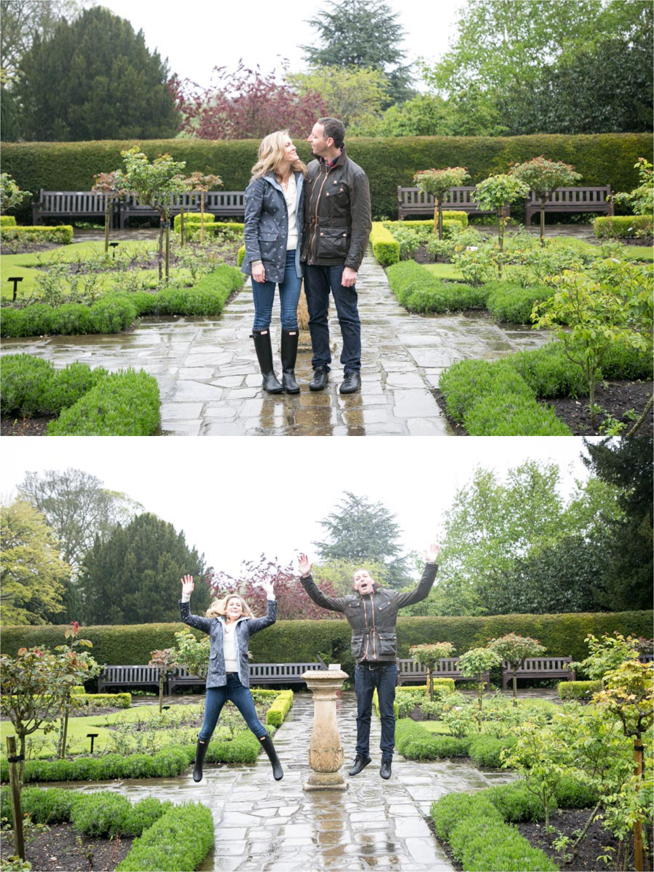 rainy couples photography in the abbey gardens, bury st edmunds