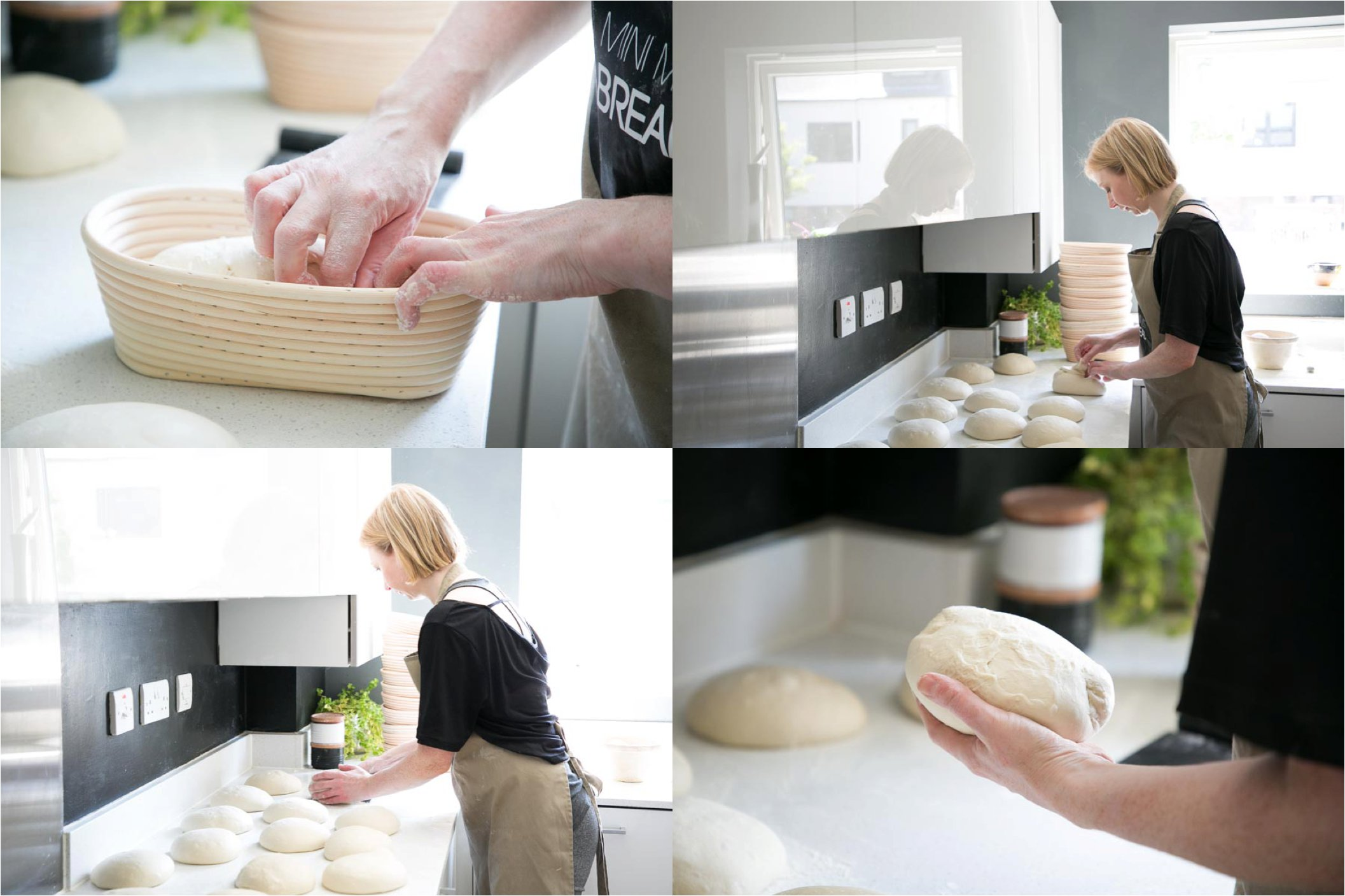 baking sour dough bread, lifestyle photography session