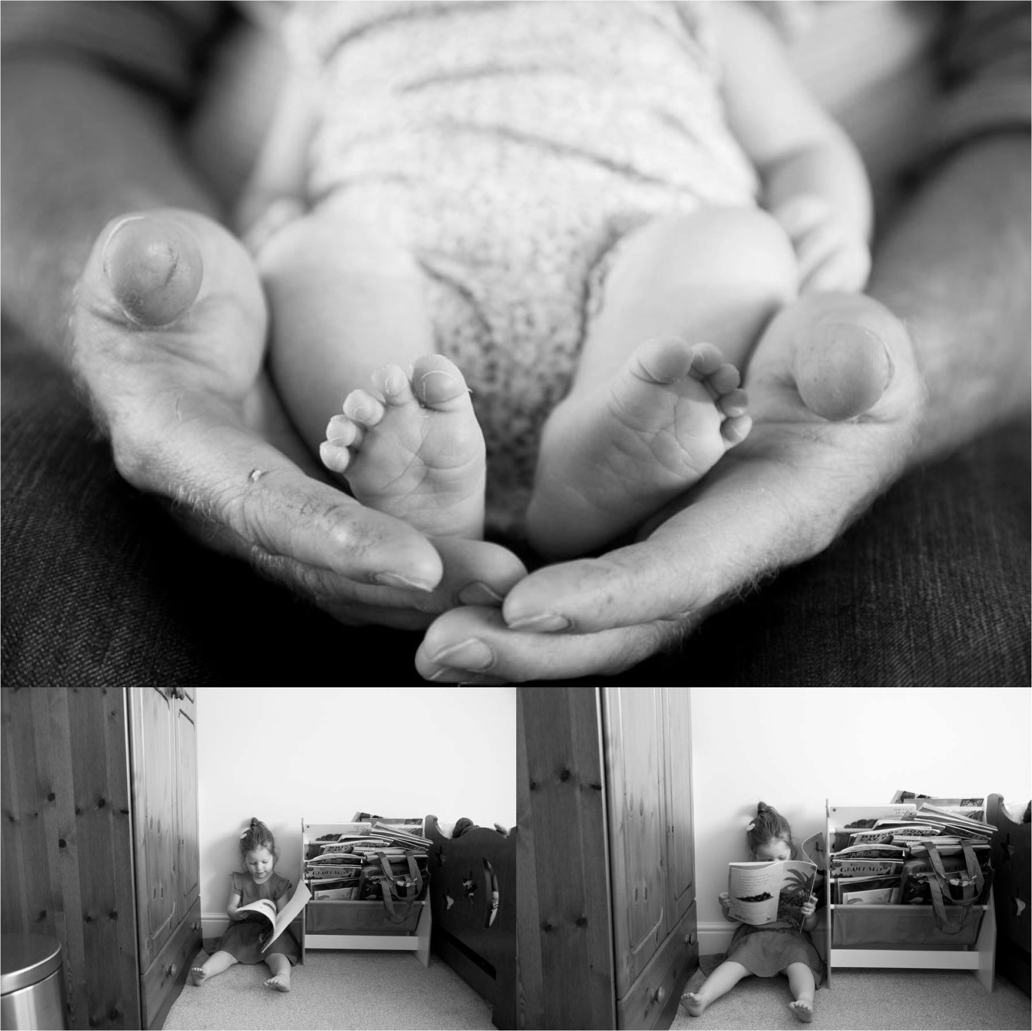 babies toes and toddlers, family photography in black and white, bury st edmunds suffolk