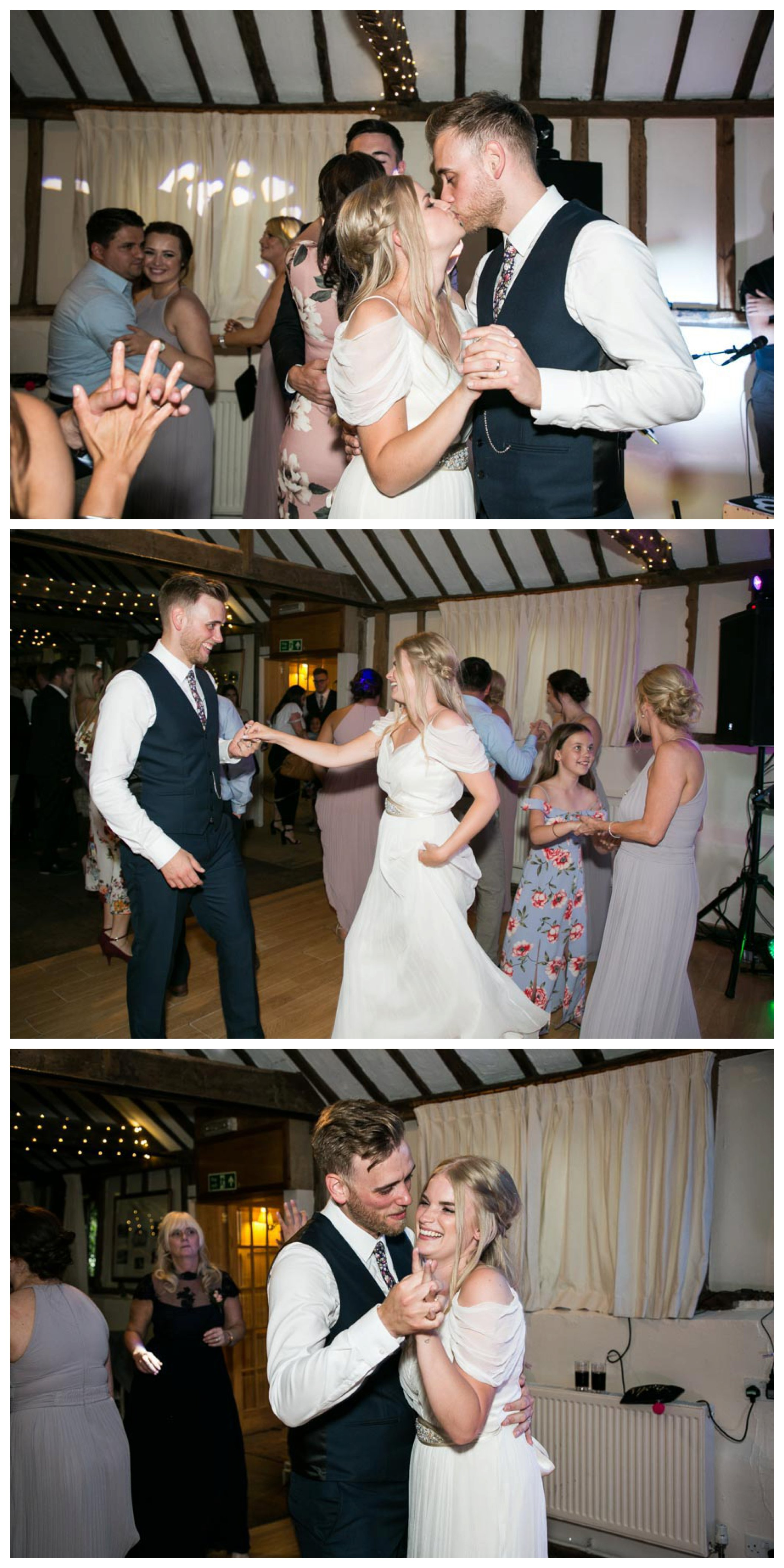bride and grooms first dance, fun party at wedding
