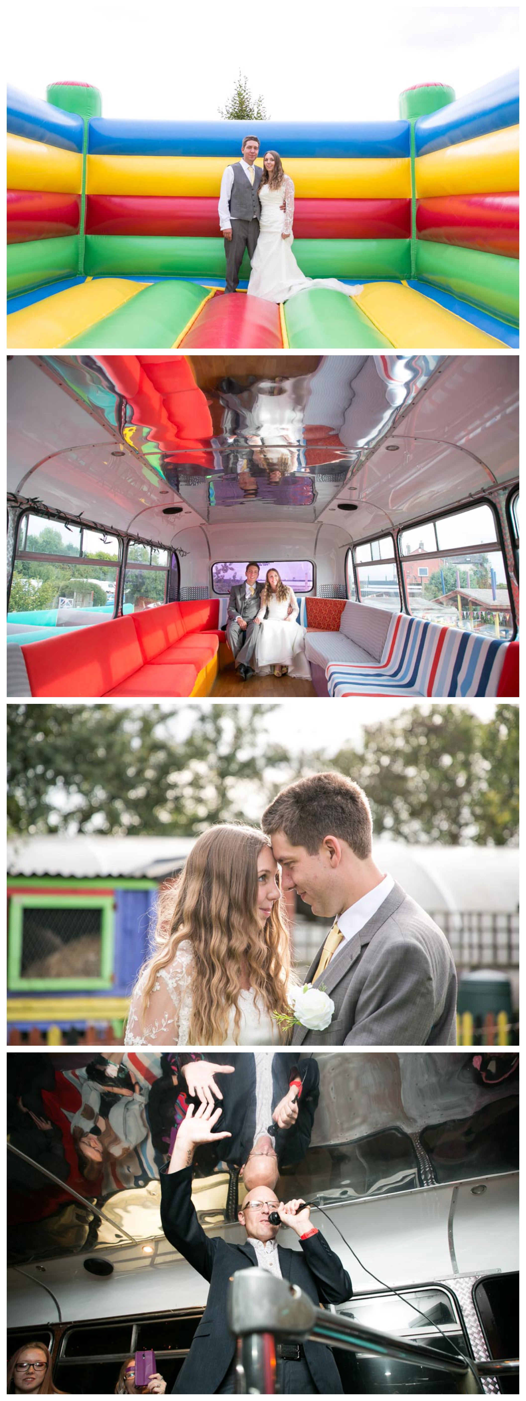 bright and cheerful photos of a wedding at The Missing Sock Cambridge