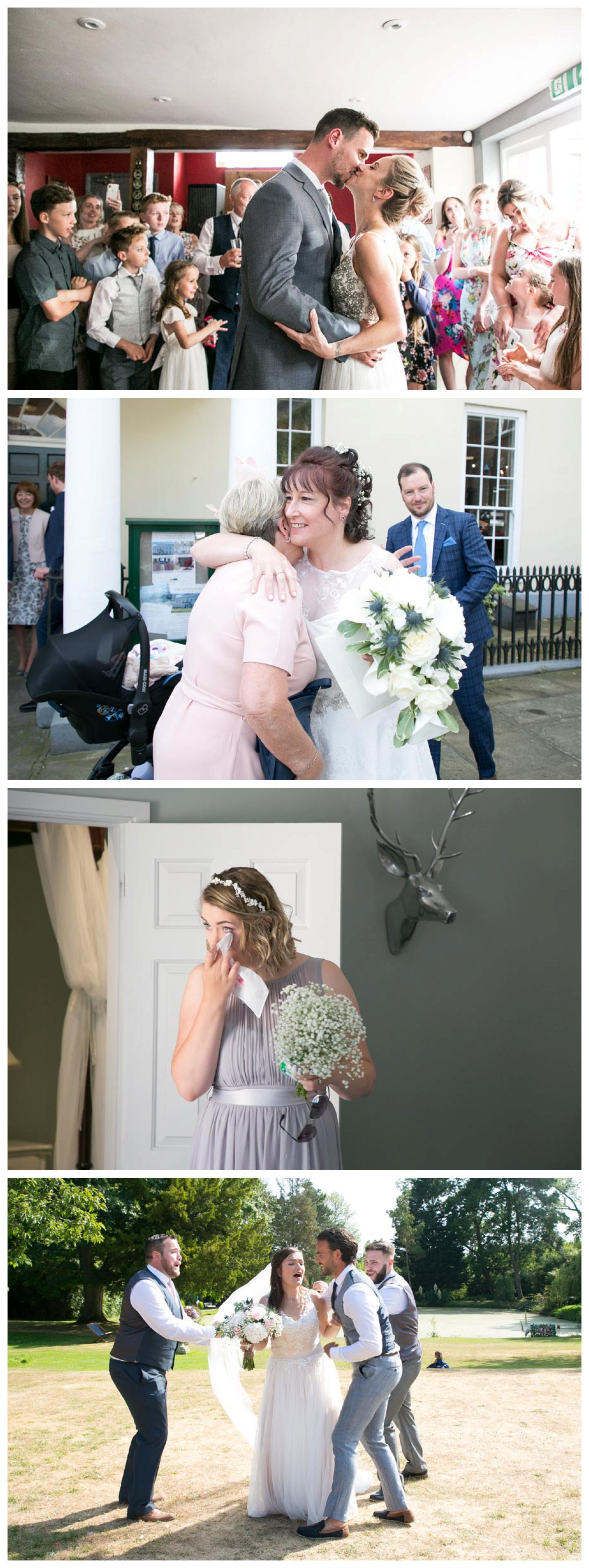 selection of relaxed wedding photographs
