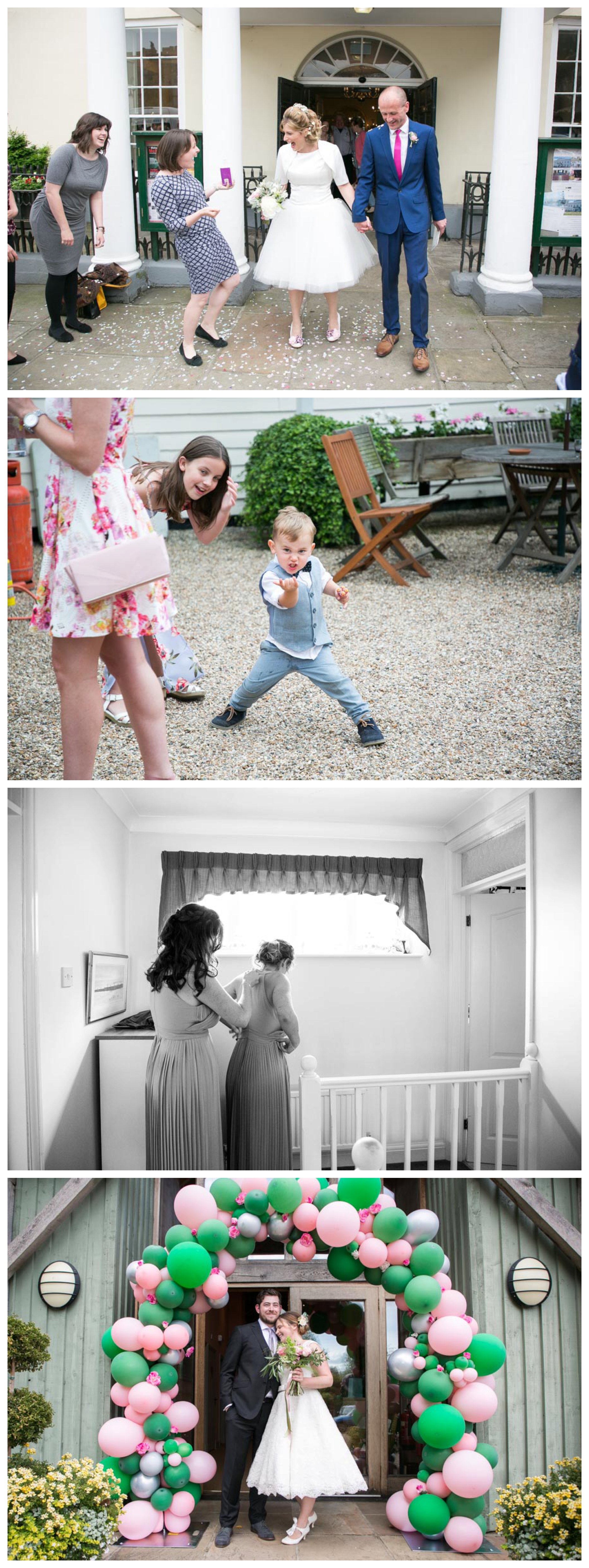 selection of wedding photography realxed and informal