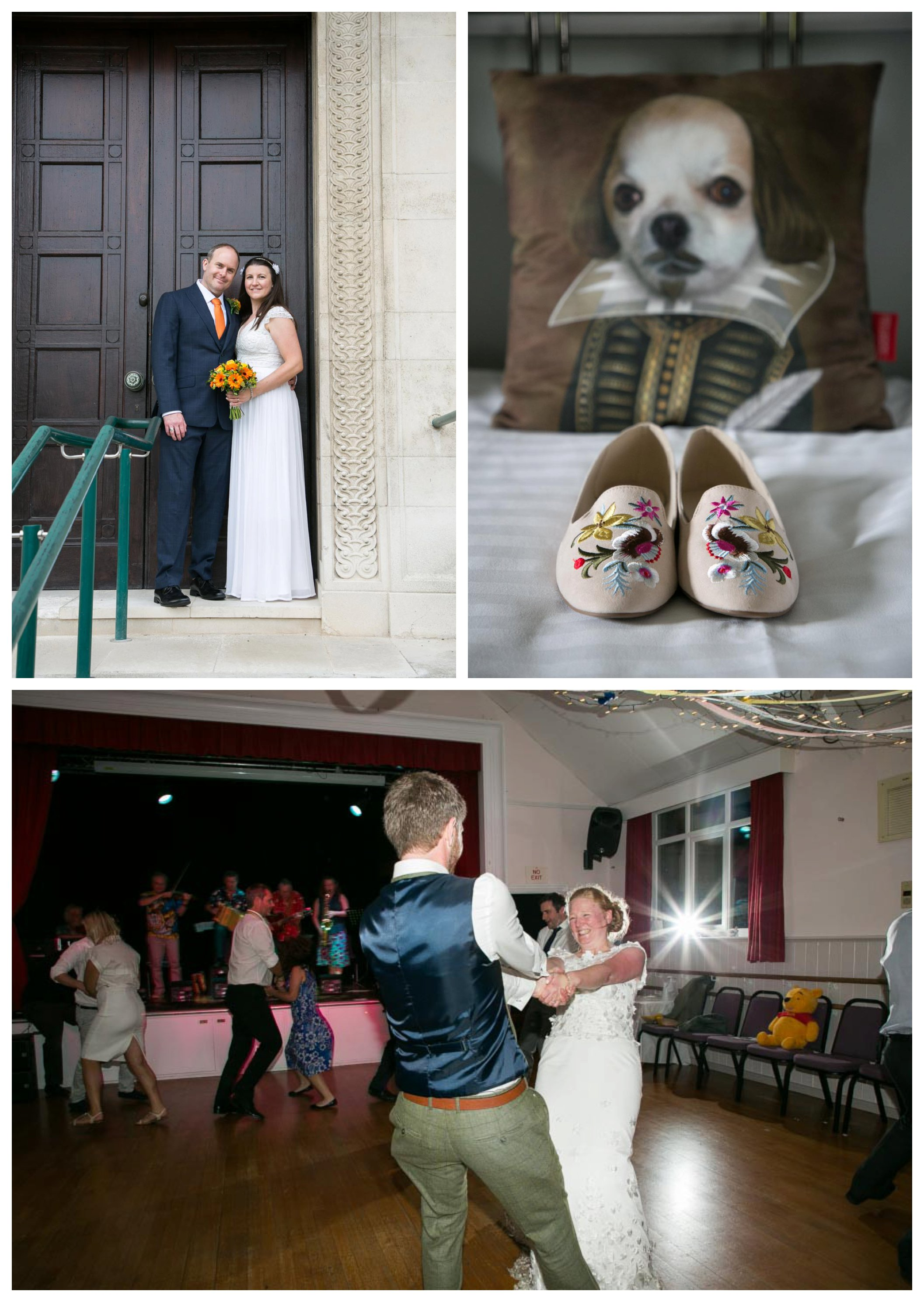 realxed and fun wedding photography, dancing and flat wedding shoes