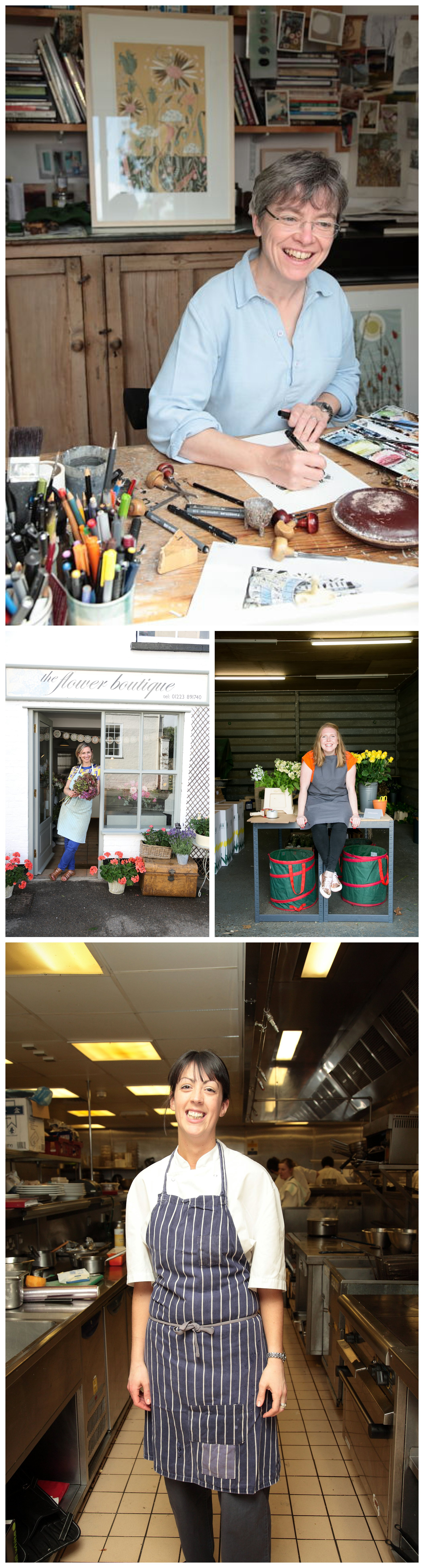 lifestyle portrait photography of creative small businesses in Camrbidge