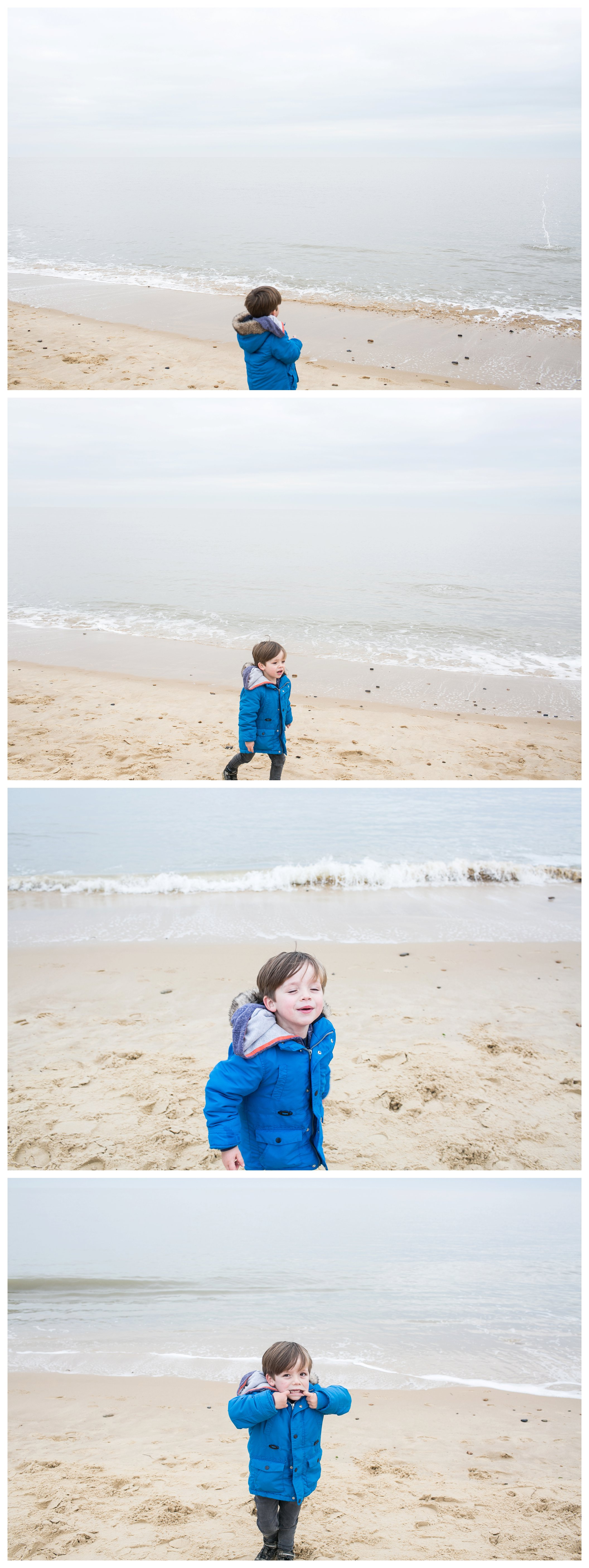 blue coat at southwold beach, family photography southwold