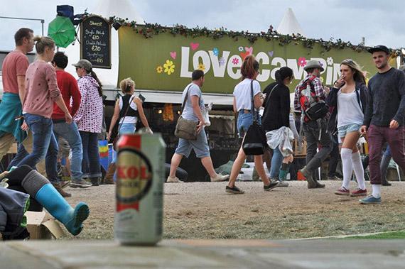 Summer festival recycling