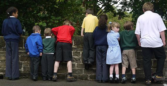 School Children in recycled uniform