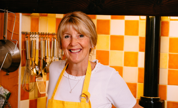 Nancy Birtwhistle cooking with stale bread