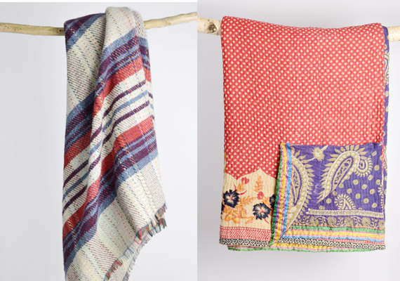 Recycled Sari Blankets