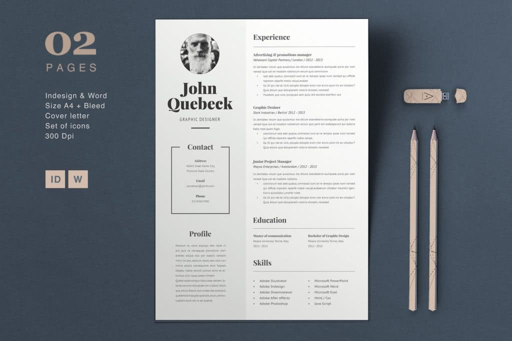 Bold Resume Template Preview