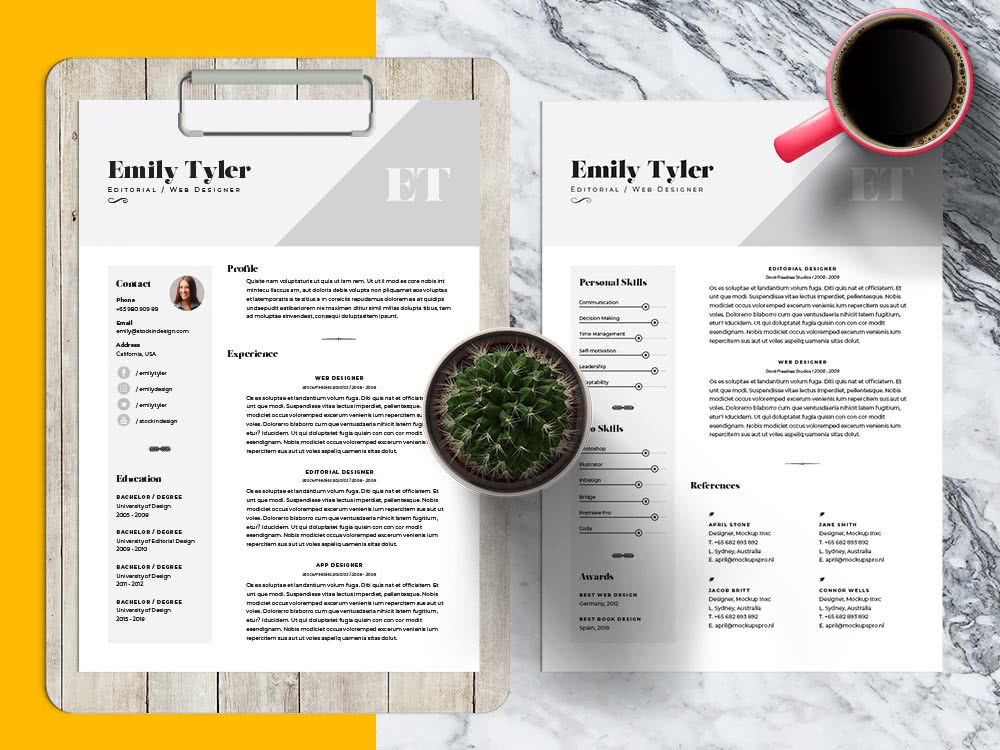 Resume Template with Showcases Preview