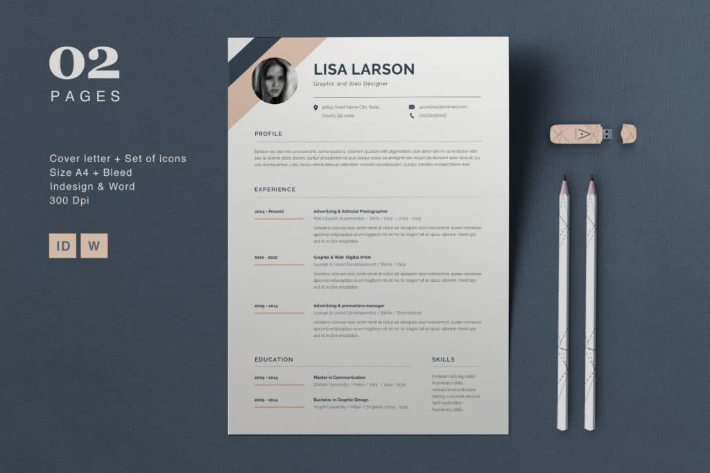 InDesign Resume Template Preview