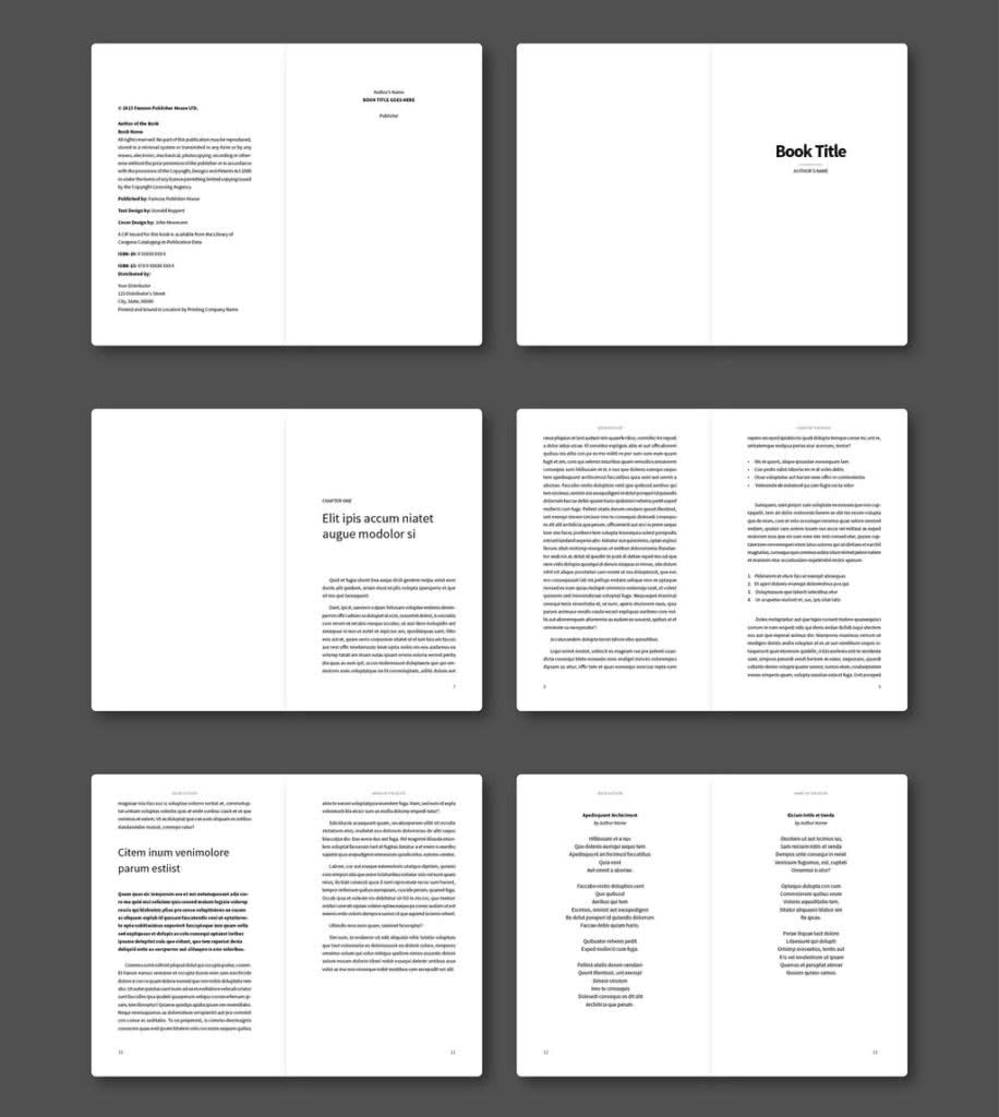 The Poetry Book InDesign Template Preview