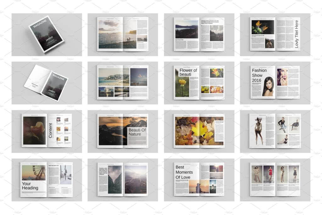 Beaty Saloon Magazine InDesign Template Preview