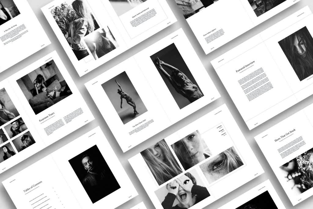 Lookbook InDesign Template Preview