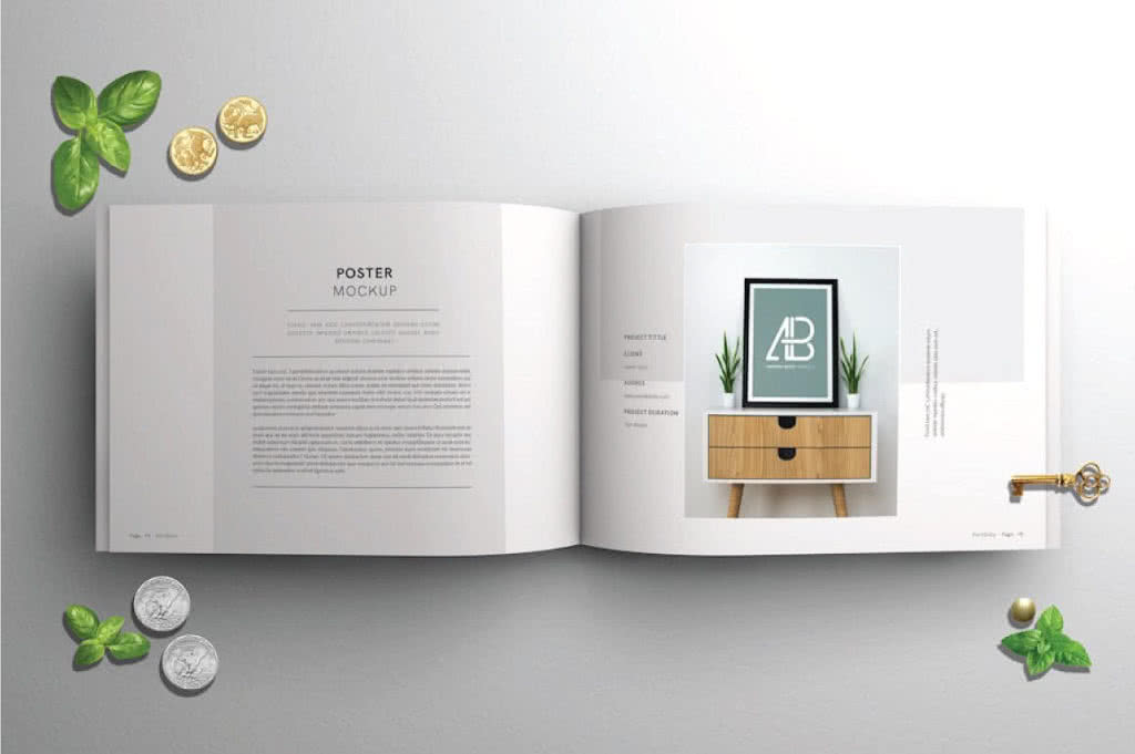 designer portfolio indesign template preview