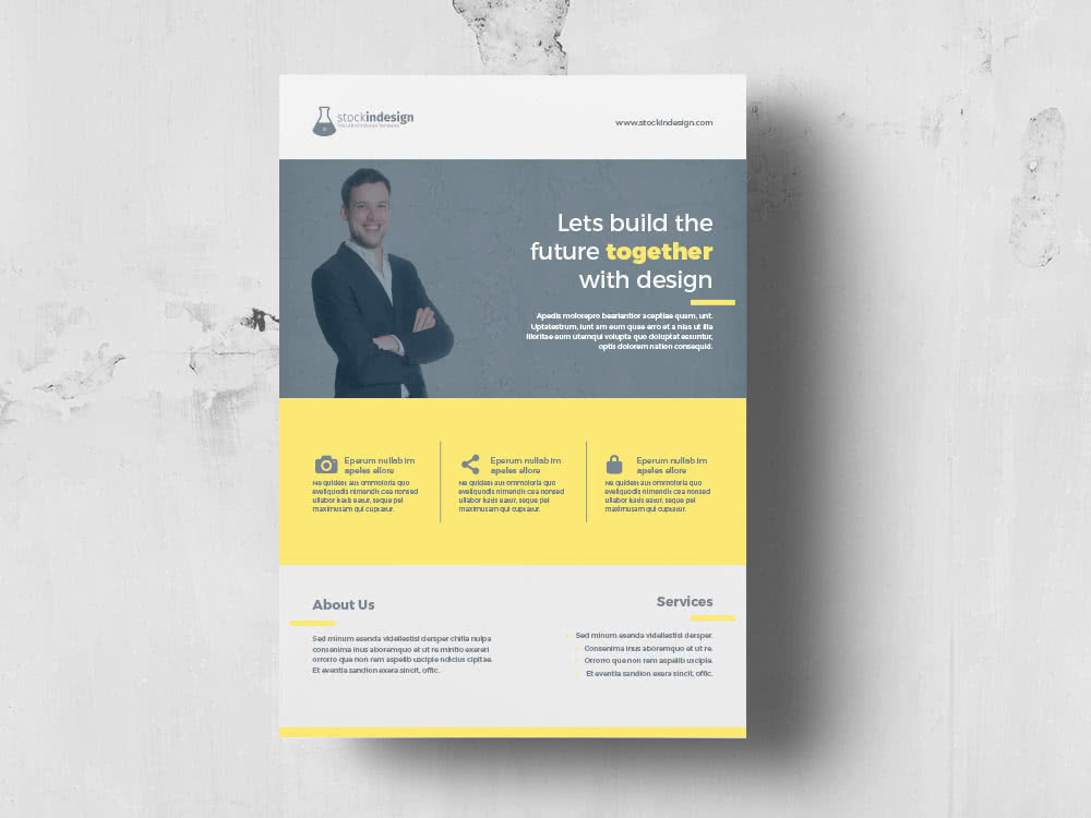 Corporate Flyer InDesign Template Preview