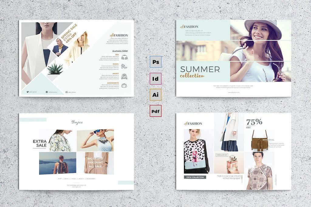 Shop Flyer InDesign Template Preview