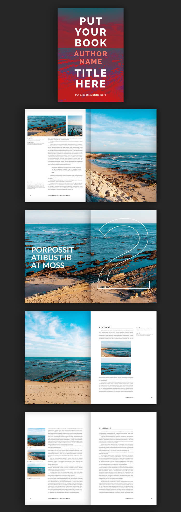 Modern Book InDesign Template Preview