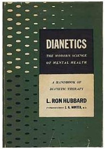 The first edition of Dianetics: The Modern Science of Mental Health (1950). Photo: Wikimedia Commons
