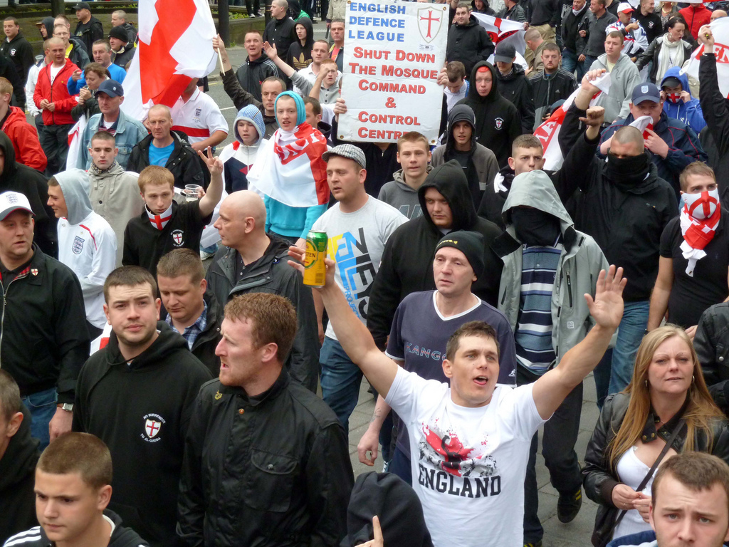 English Defence League Protest in Newcastle. Image: Wikimedia Commons.