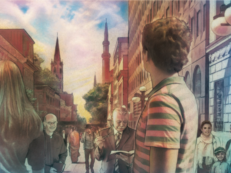 Bilde fra forsiden av NOU 2013:1 - Det livssynsåpne samfunn. En helhetlig tros- og livssynspolitikk.