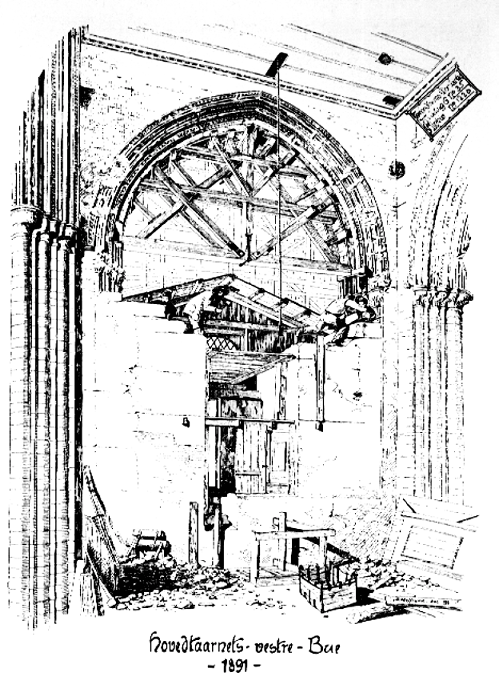 From the restoration of the Nidaros Dome, 1891. Photo: WIkimedia Commons.
