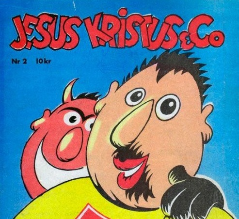 Cover of Jesus Kristus & Co, published by the Heathen Society of Norway.