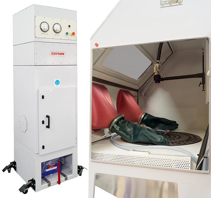 C600-AM Dust Collector and Euroblast 6-AM Blast Cabinet