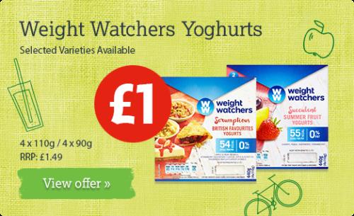 Weight Watchers Yogurts