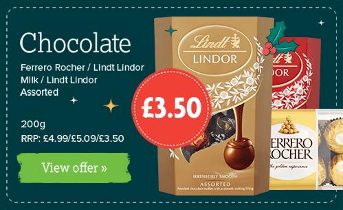 Ferrero Rocher / Lindt Lindor Milk / Lindt Lindor Assorted 200g Chocolates £3.50