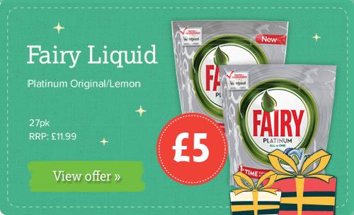 Fairy Liquid - Platinum Original/Lemon 27 pack £5