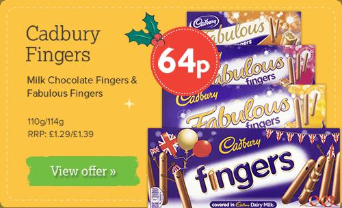 Cadbury Fingers - Milk Chocolate \ Fabulous 110g/114g 64p