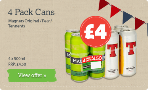 4 pack cans