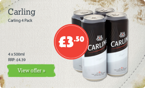 Carling 4 Pack - 4 x 500ml - RRP: £4.39