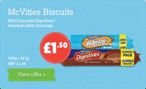 Milk Chocolate Digestives / Hob Nobs Milk Chocolate