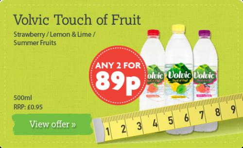 Volvic Touch of Fruit Strawberry / Lemon & Lime / Summer Fruits - 500ml