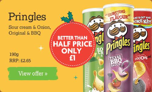 Pringles - Sour cream & onion / Orginal / BBQ 190g £1