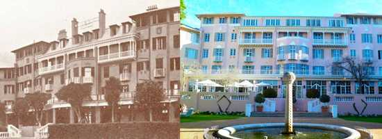 Mount Nelson Hotel, then and now.