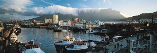 Cape Town's V&A Waterfront is a major attraction