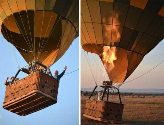 Hot air ballooning with Singita in the Grumeti