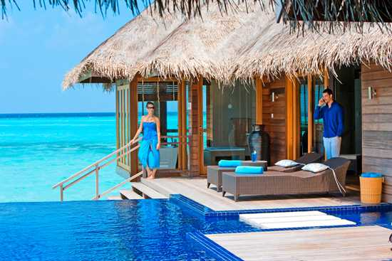 Would you be happy with your husband on the phone in the Maldives?