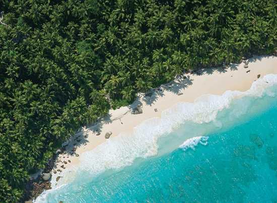 Take a stroll on fregate Beach in the Seychelles