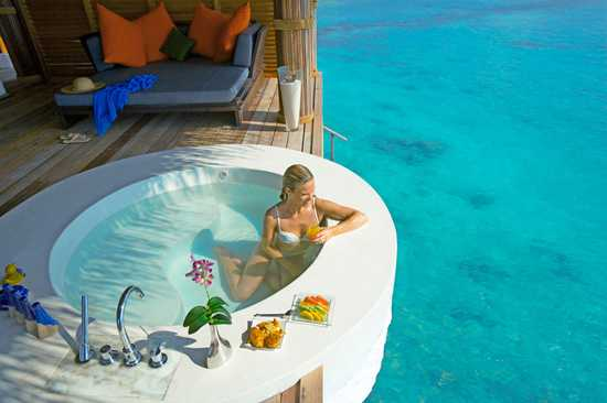 Chilling out in your private plunge pool in the Maldives