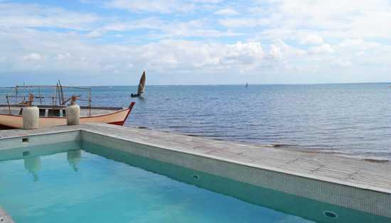 Take a dip in the lodge swimming pool