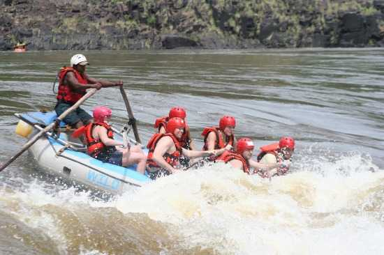 Get wild in a raft down the Zambezi