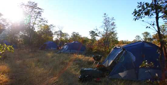 Old school tenting in the bush