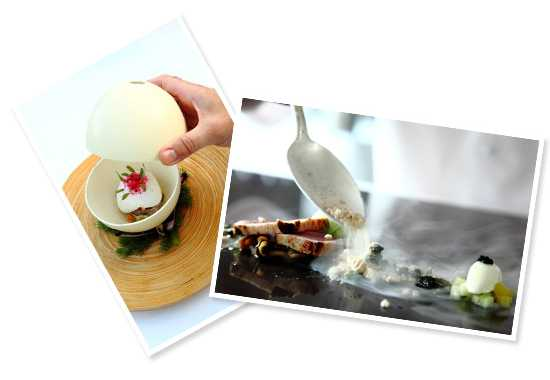Delectable dishes from the Greenhouse at Cellars Hohenort