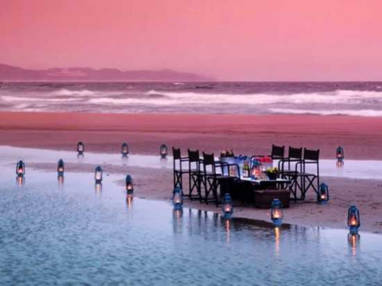 Dining on Sodwana Bay Beach